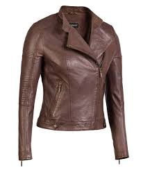 by ciara brown womens asymmetrical leather jacket genuine lambskin leather
