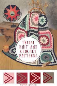 Free Afghan Knitting Patterns Circular Needles Extraordinary Tribal Patterns Free Knit Crochet Patterns Stitch And Unwind