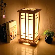 shoji table lamp customized room tatami floor lamp solid wood lamp and floor lamp paper living