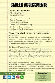 Career Assessments Career Service Center