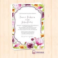 At Home Invitation Fresh Wedding Invitation Templates Print At Home And Watercolor