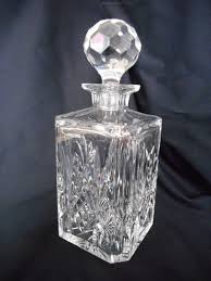 heavy quality cut glass crystal whisky decanter