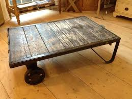 antique industrial cart coffee table lineberry cart coffee table red factory cart coffee table combine glass