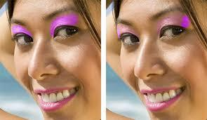 applying digital makeup in photo cc