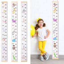 Us 7 68 31 Off Kids Growth Size Chart Cartoon Style Height Measure Ruler Activity Gear Baby Child Kids Decorative Growth Charts Height Ruler In Baby