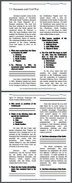 build up to the u s civil war essay questions to print secession and civil war printable pdf file american history reading questions