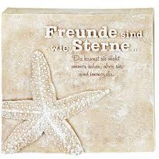 Poesie Stein Mit Spruch Freunde Sind Wie Sterne 15 X 15cm