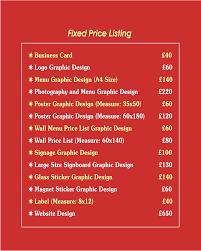 Graphic Design Price List 2016 Eko Grafİk Tasarim Graphic Desing