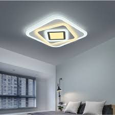 Led Ceiling Lights For Living Room Us 121 8 42 Off New Modern Art Acrylic Led Ceiling Lights Living Room Ceiling Lamp Bedroom Foyer Decorative Lampshade Lamparas De Techo Fixtures In