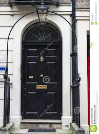 black door of a clic house in london united kingdom