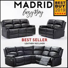 madrid leather recliner sofas lazyboy