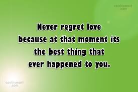 Regret Love Quotes