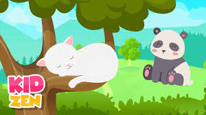 Relaxing Music For Children - Be Calm and Focused (cute animals) - YouTube