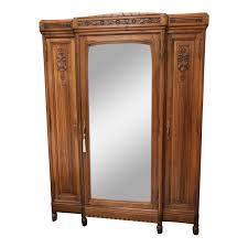 english antique armoire antique. Vintage English Walnut Three Door Armoire With Mirror Antique R