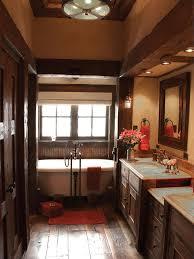 rustic modern bathroom ideas. Rustic Elegant Bathroom With Modern Soak Tub And Vintage Cabinet Ideas