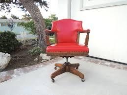 blue upholstered desk chair