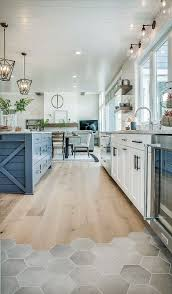 kitchen flooring is ragno hexagon tiles and river ss wood floor throughout inspirations 6