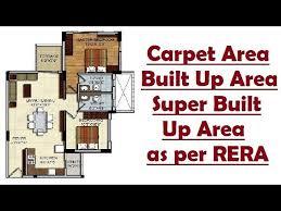 carpet area built up area super built