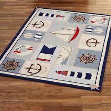 lavishly nautical rug for nursery home bars ship shape rectangle multi