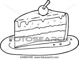 slice of cake clip art black and white. Brilliant And Clipart  Black And White Cartoon Slice Of Cake Fotosearch Search Clip  Art Inside Slice Of Cake Art Black And White C