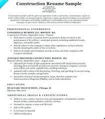 Labor Resume