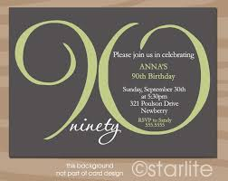 Wording For 90th Birthday Party Invitations 90th Birthday Invitation