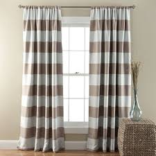 horizontal striped taupe white modern farmhouse curtains for living room contemporary
