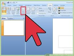image led add a header in powerpoint step 2