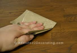 when doing delicate sanding use a brown paper bag instead of sand paper