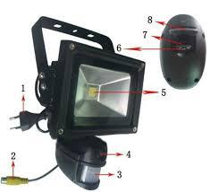 hd 720p wifi wireless outdoor light pir ip waterproof outdoor light zr710w