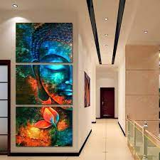 canvas wall decor buddha wall art