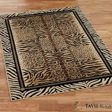 captivating animal print rugs for your residence idea