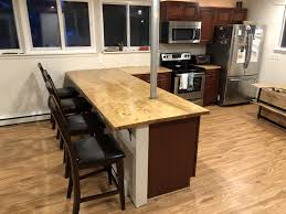 here is an early pic of the kitchen in 2017 when i was installing the flooring i used trafficmaster allure plus 5 in x 36 in hamilton oak luxury vinyl