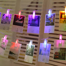 Photo Clip String Lights Walmart Led Photo Clip String Lights With Battery Box Night Lamp Hanging Pendant Festivals Garden Party Yard Decoration