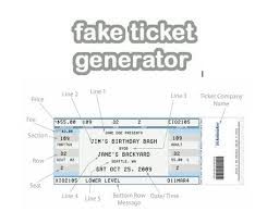concert ticket maker fake ticket generator create your very own novelty concert
