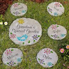 personalized garden stepping stones for gardens mosaic