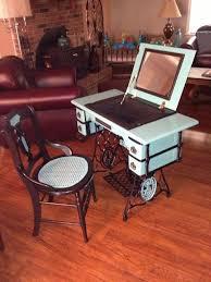 repurposed antique furniture. Repurposed Antique Sewing Machine, Painted Furniture, Repurposing Upcycling Furniture E
