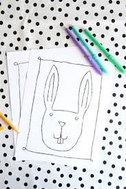 Free Printables Easter Bunny Coloring Pages And Stickers Starling