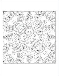 Advanced Geometric Coloring Pages Denconnectscom