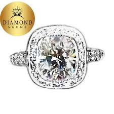 Ring Color And Clarity Chart Gia Certified G Color Vs1 Clarity Grade Cushion Shape Halo