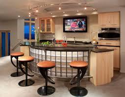 glass breakfast bar top home bar contemporary with curved lighting curved lighting bar top lighting