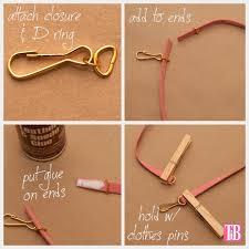 diy studded bracelets gluing the ends