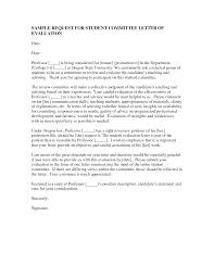 Tenure Recommendation Letter From Student Example Best Photos Of Students Evaluation Letter Sample Intern
