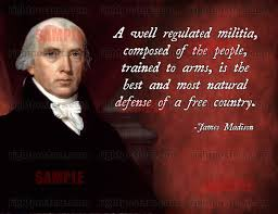 James Madison Quotes Simple James Madison Militia Quote Poster