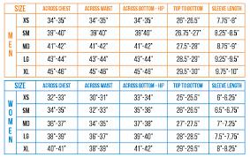 Jersey Size Chart Ss Short Sleeve Jersey
