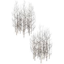 black metal wall art tree