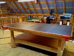 Kitchen Work Table On Wheels Heavy Duty Shop Table Diy Woodshop Youtube
