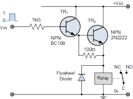 relay switch circuit and relay switching circuit emitter darlington relay switch circuit