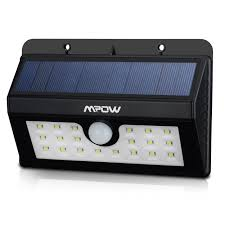 mpow super bright 20 led solar powered wireless weatherproof outdoor light motion with 3 intelligent modes com