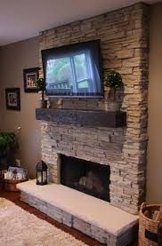 Stone Fireplace Mantels With Tv 1000 Ideas About Tv Above